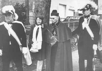 Archbishop Boland prepares to participate in his final West Orange St. Patrick's Day Parade on March 11, 1979. He was a familiar figure at the parade for many years.