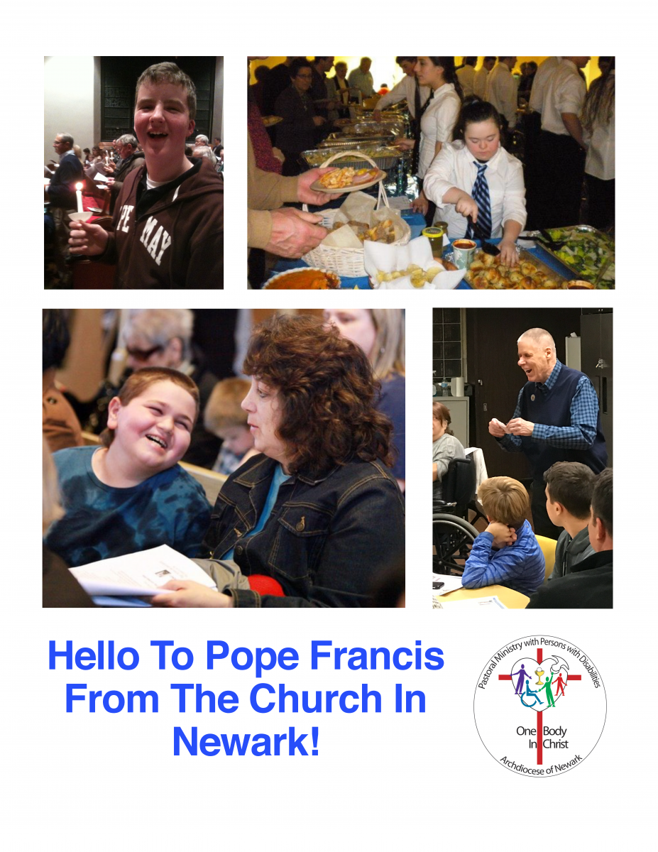 Book of Greetings to Pope Francis from the Church in Newark Cover
