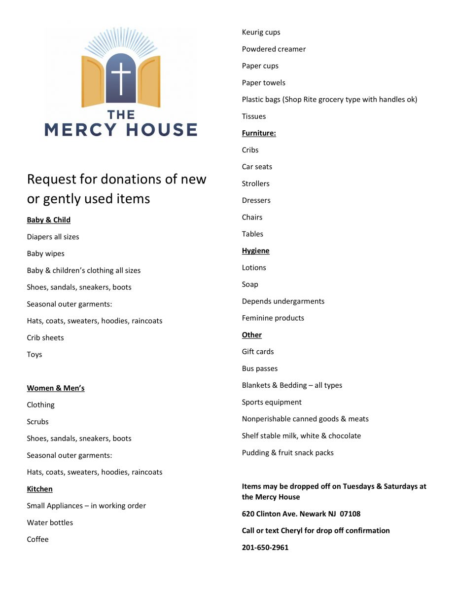 the mercy house | archdiocese of newark